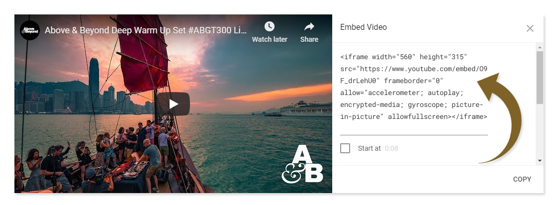 YouTube Embedded Video Growth Hack